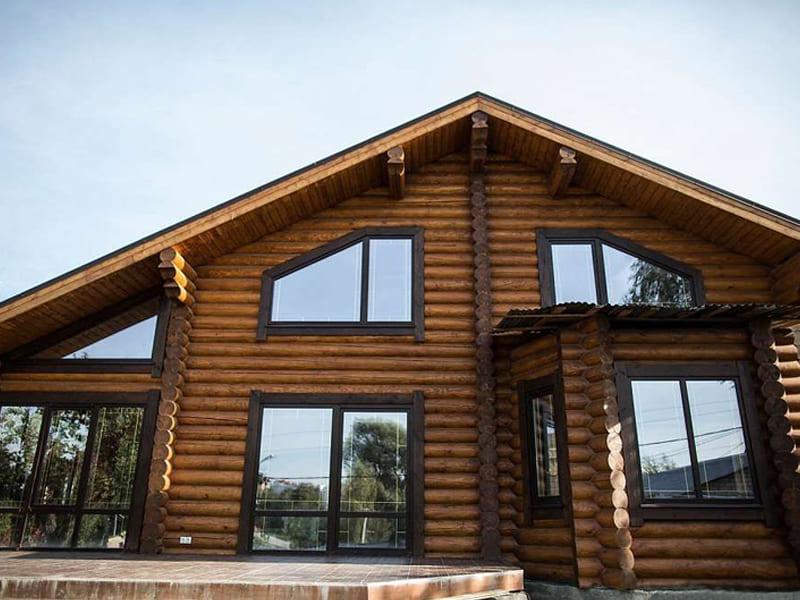 Монтаж окна пвх в деревянном доме