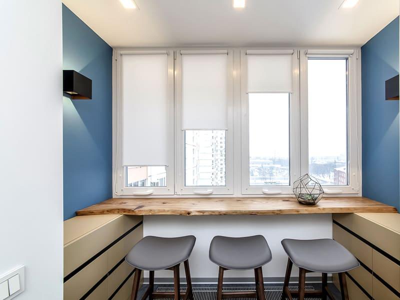 Пластиковое окно на кухню в Томске