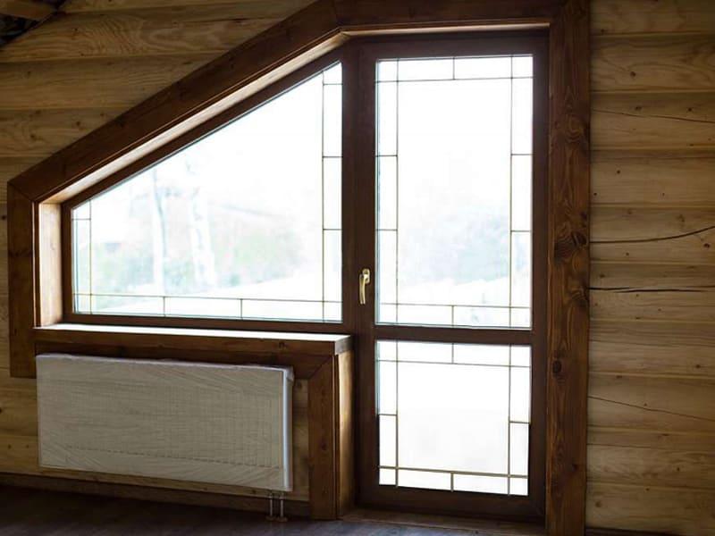 Окно ПВХ с дверью на балкон